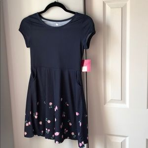 *6 for $30* NWT SO navy floral dress- L (10/12)